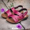 Kito AO1 รองเท้าแตะ สีแดง รองเท้าผู้หญิง รองเท้ารัดส้น รองเท้าแตะรัดส้น
